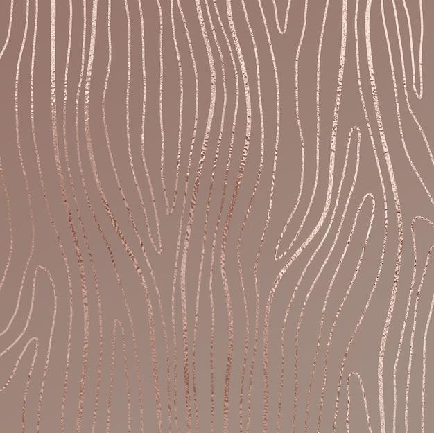 Abstrait avec des accents d'or rose