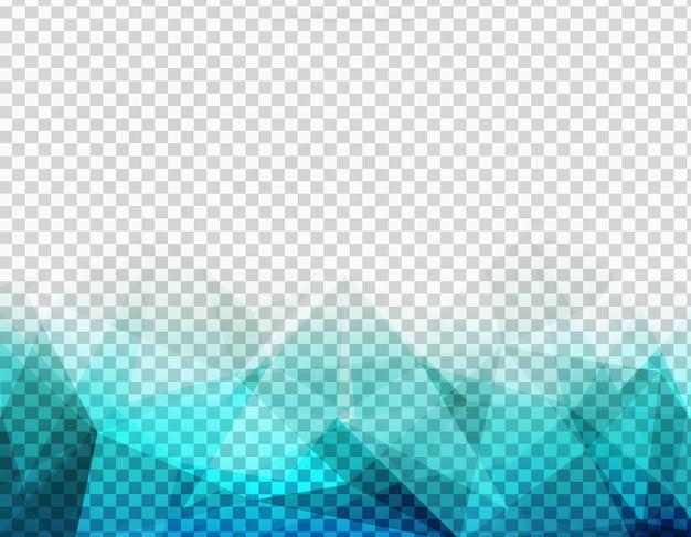 Abstrait aqua bleu low poly