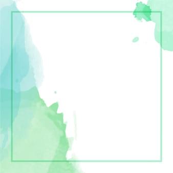 Abstrait aquarelle avec cadre