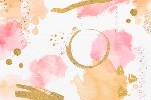 Abstrait aquarelle et feuille