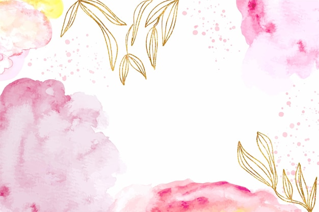Abstrait aquarelle avec des feuilles