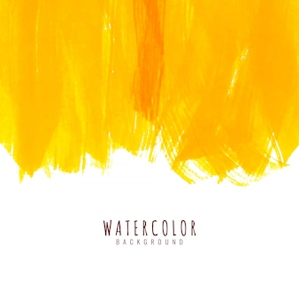Abstrait aquarelle jaune
