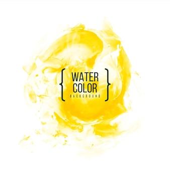 Abstrait aquarelle jaune