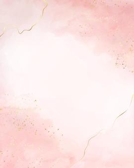 Abstrait aquarelle liquide fard à joues poussiéreux avec des craquelins dorés