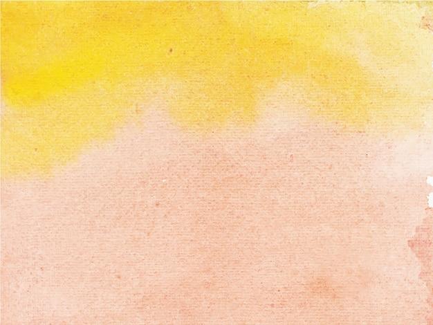 Abstrait aquarelle marron orange. c'est une main dessinée.