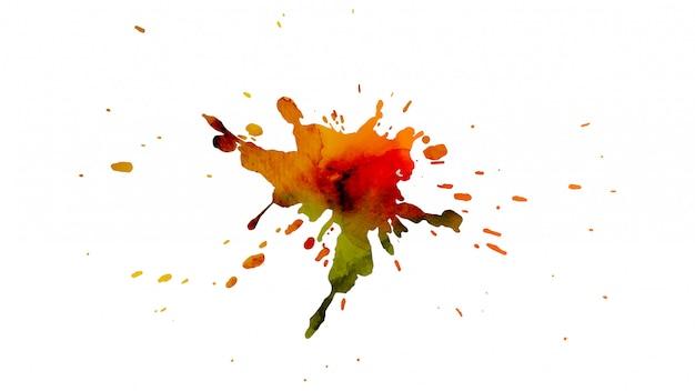 Abstrait aquarelle avec splash peint à la main.