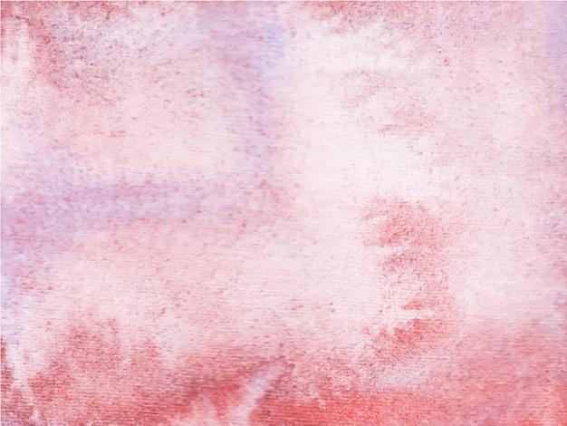 Abstrait Aquarelle Violet Rouge. C'est Une Main Dessinée. Vecteur Premium