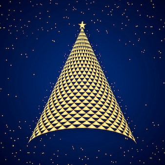 Abstrait arbre de noël festif