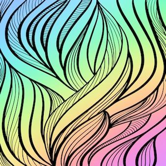 Abstrait arc-en-ciel pour carte de voeux