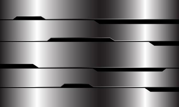 Abstrait argent ligne noire circuit cyber conception géométrique fond de technologie futuriste de luxe moderne