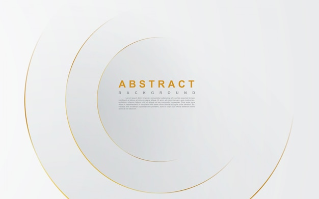 Abstrait argenté avec ligne cercle or