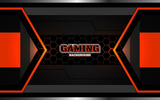 Abstrait arrière-plan futuriste de jeu noir et orange