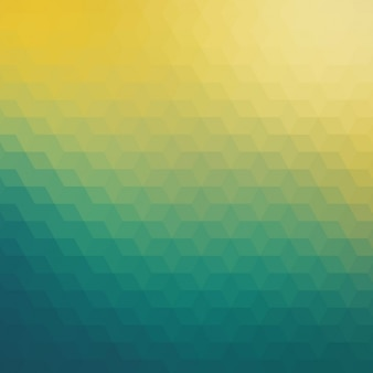 Abstrait arrière-plan géométrique dans les tons verts et jaunes