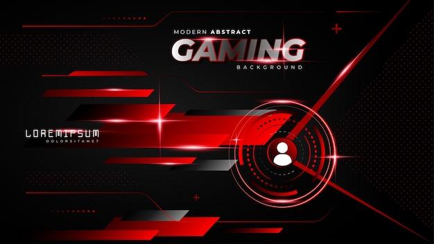 Abstrait arrière-plan de jeu futuriste rouge pour le flux twitch hors ligne