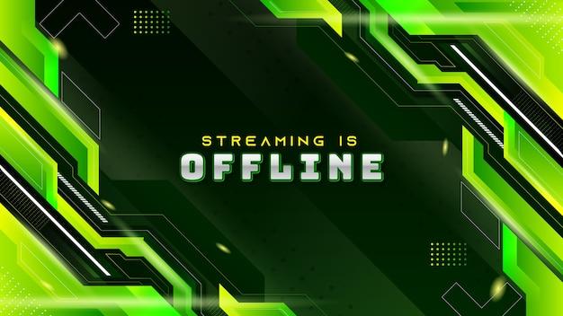 Abstrait arrière-plan de jeu moderne vert pour twitch stream hors ligne
