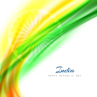 Abstrait arrière-plan de la journée de la république indienne