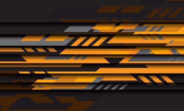 Abstrait arrière-plan moderne de conception de technologie futuriste cyber gris géométrique jaune.