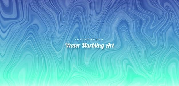 Abstrait art marbrant de l'eau