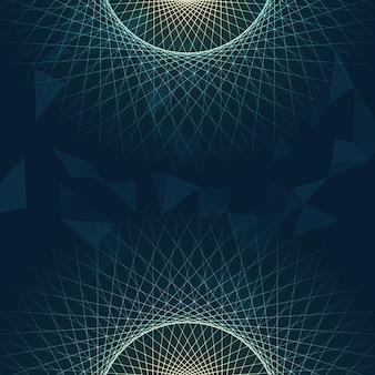 Abstrait avec design de lignes