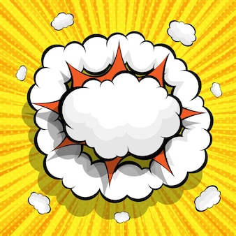 Abstrait bande dessinée avec illustration de bulle de discours vide