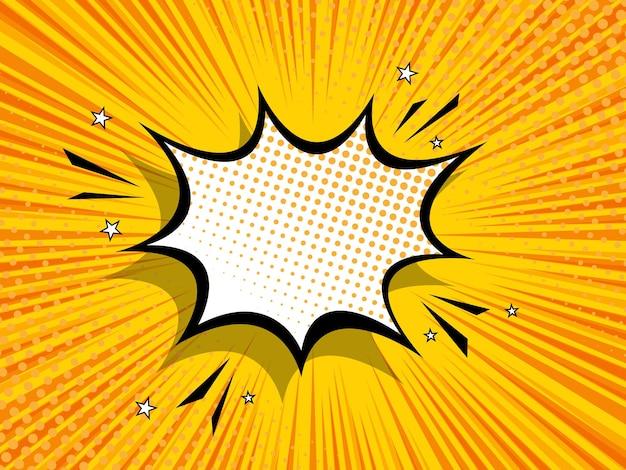 Abstrait bang bande dessinée popart illustration fond plat