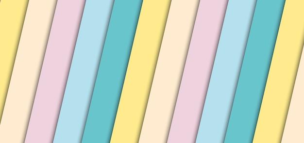 Abstrait bannière pastel rayures diagonale de fond