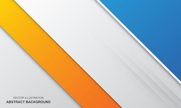 Abstrait blanc blanc orange et bleu couleur