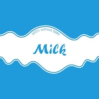 Abstrait blanc et bleu publicité vague de lait