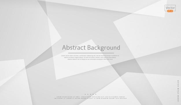 Abstrait blanc concept design. style géométrique moderne et professionnel