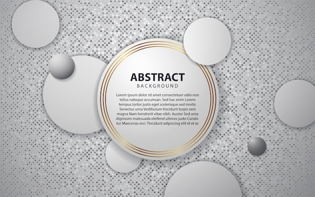 Abstrait blanc avec des couches de chevauchement de cercle