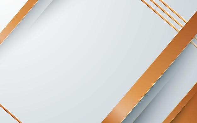 Abstrait blanc avec des couches dorées