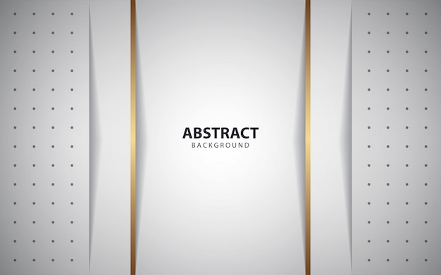 Abstrait blanc couches de fond avec une ligne dorée