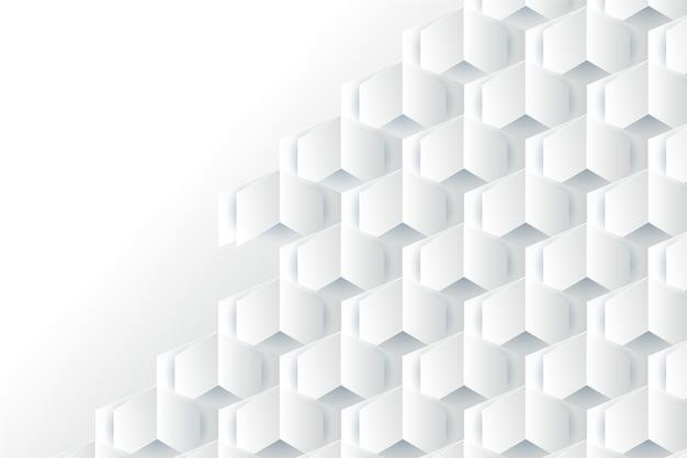 Abstrait blanc dans un style de papier 3d