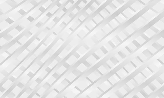 Abstrait blanc avec grille de lignes chromées