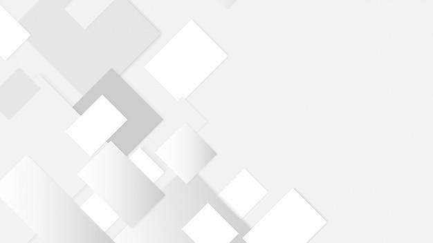 Abstrait blanc et gris dégradé dimension de chevauchement moderne