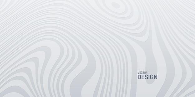 Abstrait blanc avec motif ondulé topographique