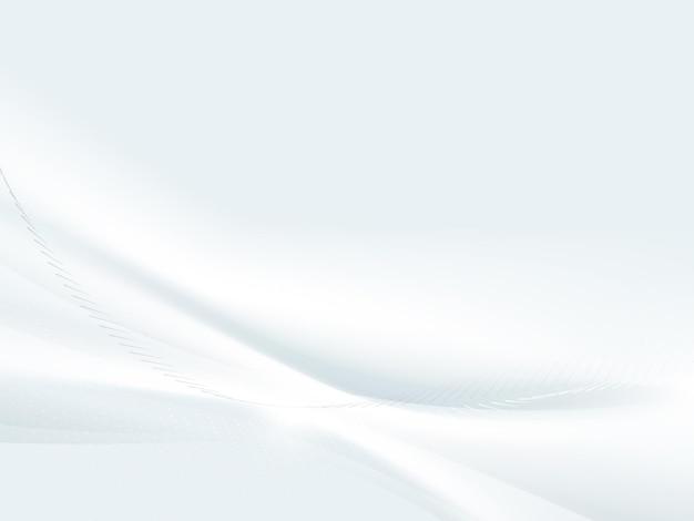 Abstrait Blanc Ondulé Avec Fond De Lignes Courbes Lumière Floue. Vecteur Premium