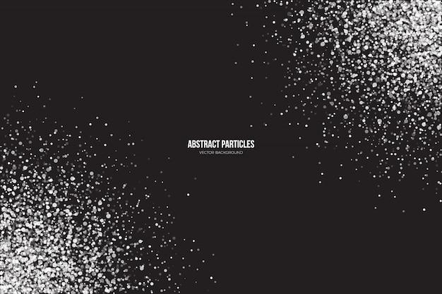 Abstrait blanc scintillant de particules rougeoyantes