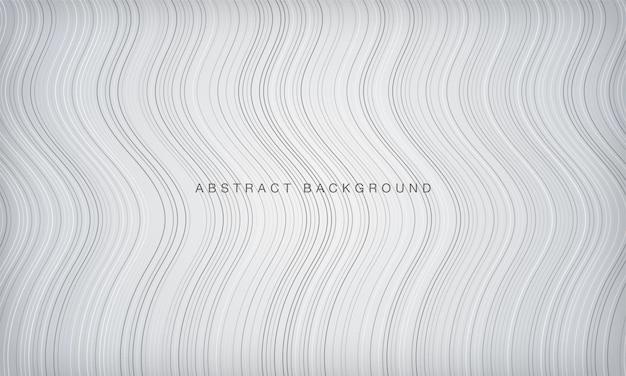 Abstrait Blanc Avec Texture Rayée Ondulée Moderne Vecteur Premium