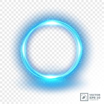 Abstrait bleu anneau de lumière