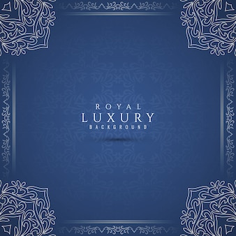 Abstrait bleu artistique de luxe royal