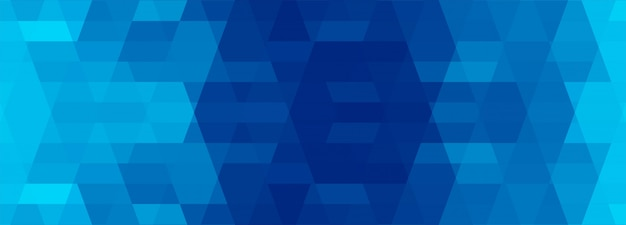 Abstrait Bleu Bannière Géométrique Vecteur gratuit