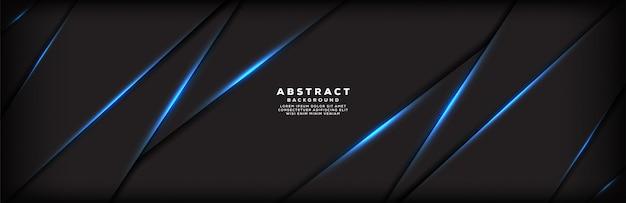 Abstrait bleu bannière ligne barre oblique fond