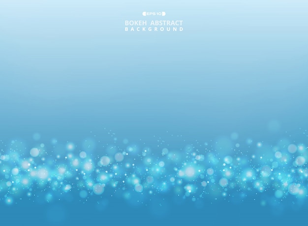 Abstrait bleu et blanc dégradé avec motif bokeh points fond. illustration eps10