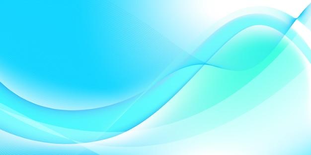 Abstrait bleu et blanc