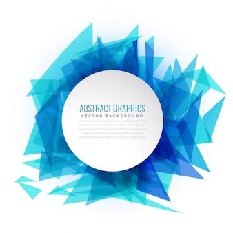 Abstrait bleu cadre triangle d'arrière-plan