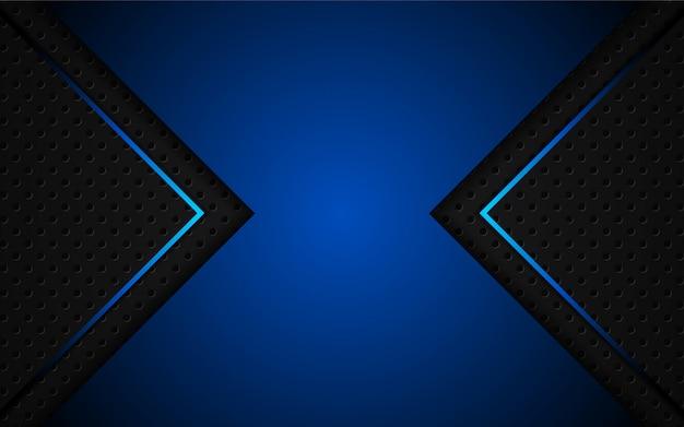 Abstrait bleu clair sur fond noir