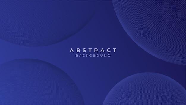 Abstrait bleu classique avec forme géométrique