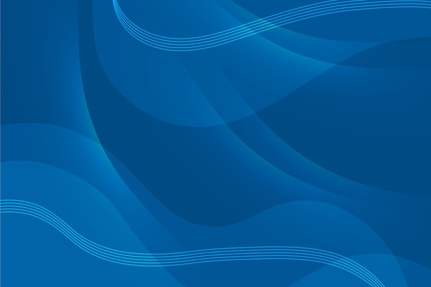 Abstrait bleu classique avec des vagues