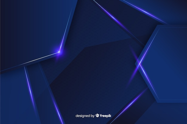 Abstrait bleu décoratif métallique